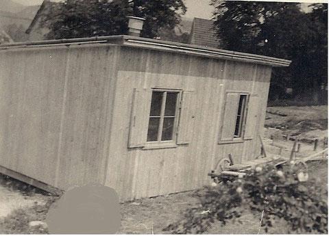 Behelfsheim am Aschenberg - Archiv Werner Piereck