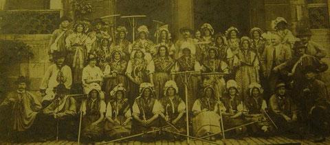 Trachtenfest am 19.Juli 1925 in Meiningen (Alles Beschäftigte vom Altenstein ? ) - Recherche Jürgen Roth