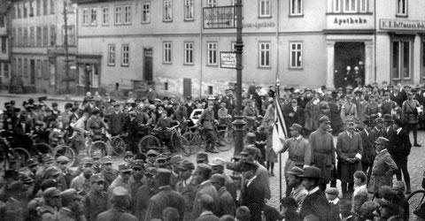 Beginn einer SA-Übung 1926 Markt Basa - Archiv Peter-Michael Stein