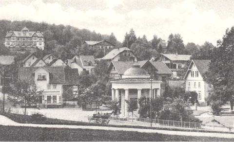 Aufnahme 1923, rechts Haus Erika - Archiv W.Malek