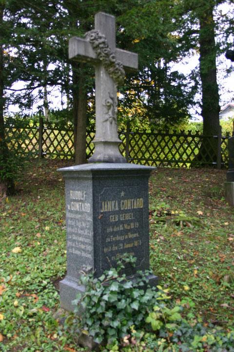 Grabstelle Rudolf und Janka Gontard, Friedhof Schweina 10-2013