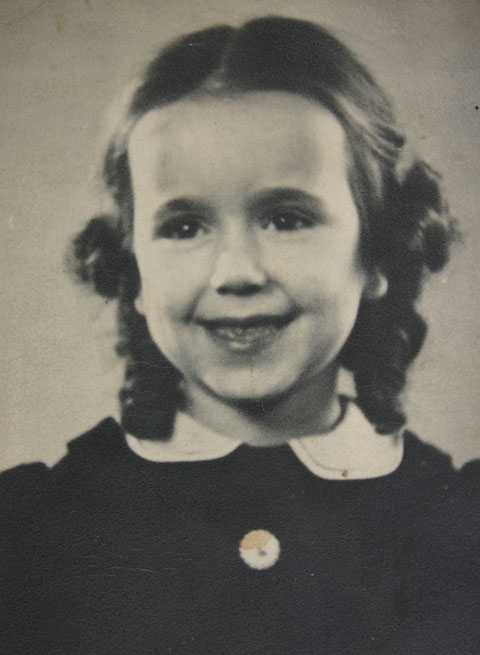 Ingrid Remke als junges Mädchen