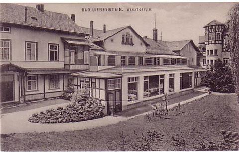 Sanatorium (Rückseite) zu Zeiten Dr.Fülles - nach 1890 - Archiv W.Malek