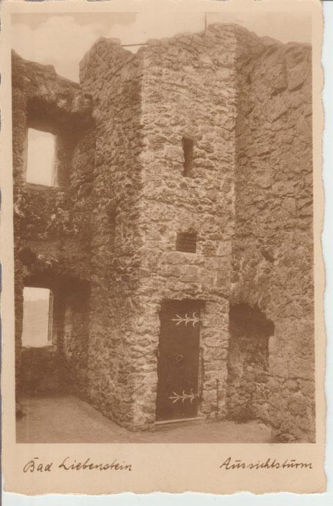 Burgturm um 1932 Verlag Chr. Schöning, Lübeck Nr. 23914