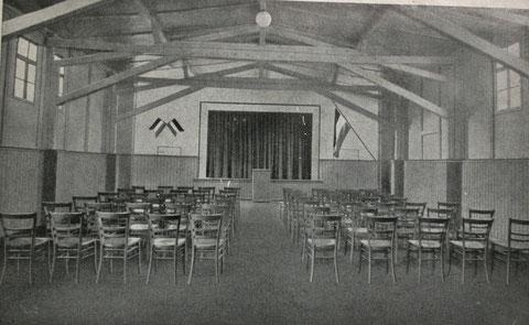 Inneres der Aula 1933