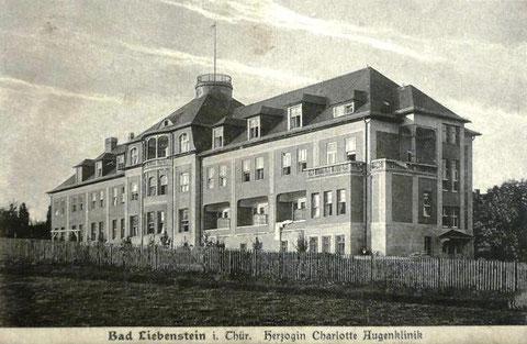 Rückseite der Klinik Aufnahme 1920 - Archiv - W.Malek