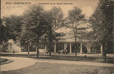Wandelhalle an der Oberen Esplanade vom Verlag Louis Glaser, Leipzig - Archiv W.Malek