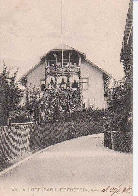 Brunnenweg 3 im Jahre 1907