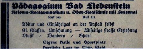 Anzeige von 1934