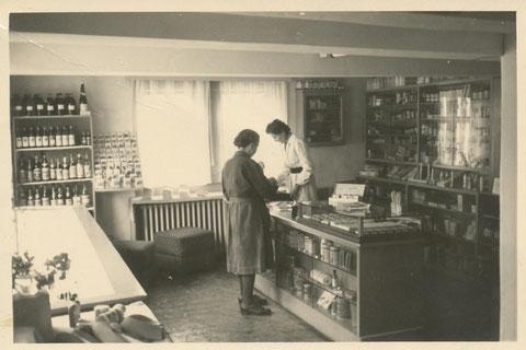 Laden der Drogerie Schilling 1960er Jahre - Sammlung A.Döhrer