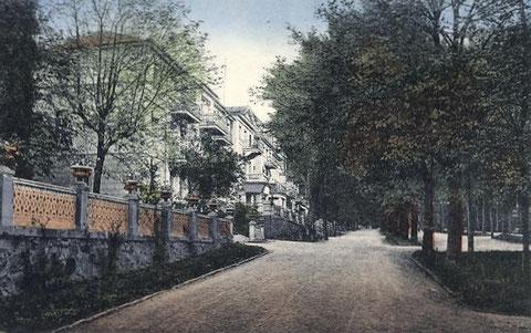 Esplanade 1929 - links Begrenzung Hotel Bellevue - Archiv W.Malek