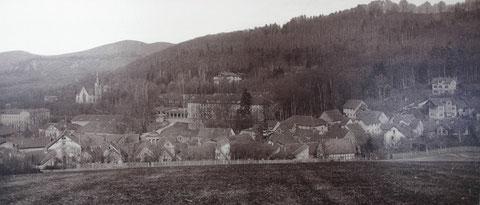 Ursprünglicher Blick von der Schönen Aussicht - Aufnahme zwischen 1890 und 1900