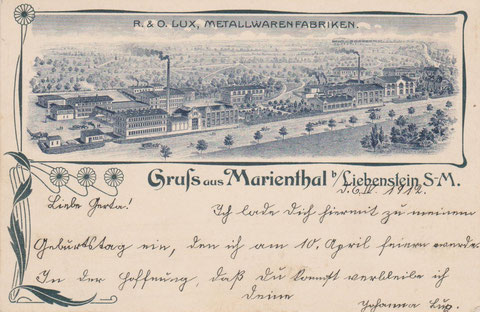 Ansichtskarte 06.04.1912 gelaufen - Archiv W.Malek