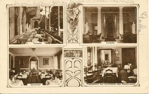 """Details zum Hotel """" Herzogin Charlotte"""" 1920, Inhaber Hermann Gruber"""