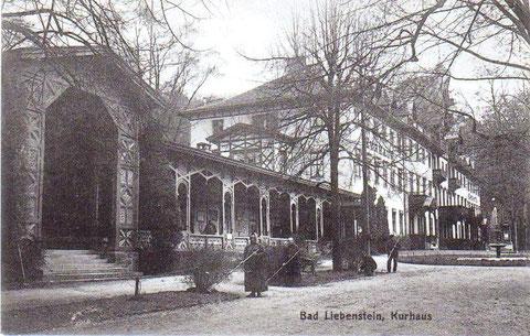 Kurhaus um 1890 mit Gärtnern - Archiv W.Malek