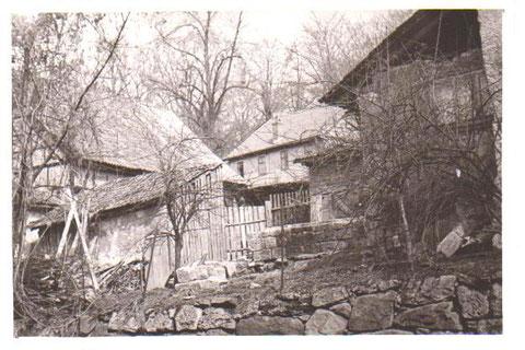 Müllerscher Hof, im Hintergrund die Bierwirtschaft der Kegelbahn - Archiv W.Malek