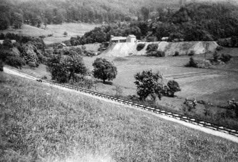Blick auf das Bergwerksgelände vermutlich Anfang 1950er aufgenommen - Sammlung Astrid Messerschmidt