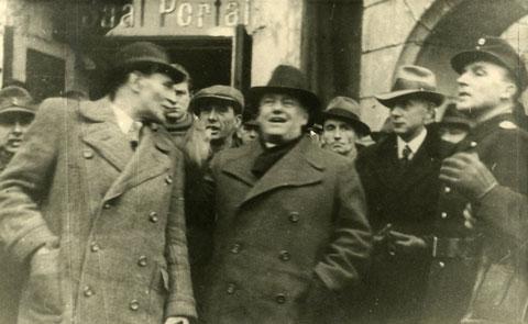 Im Bild links Otto Schieck -  Stadtarchiv Eisenach mit freundlicher Genehmigung