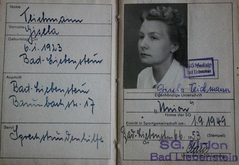 Gisela Teichmann hat dem Administrator diese Kopien (5 an der Zahl) zu Lebzeiten gestattet