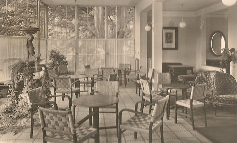 Wintergarten 1938- heute Bestandteil der Bibliothek - Archiv H.Luck