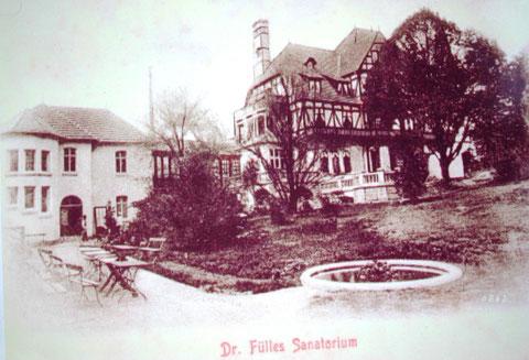 ehemalige Gebäudestruktur von der heutigen Eingangsseite Dr.Martiny-Strasse)  zum Seniorenheim gesehen - Archiv W.Malek