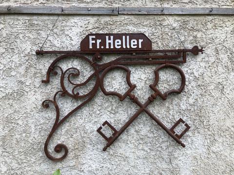 Zunftzeichen der Schlosserei Heller - Besitz von Konrad Scherf