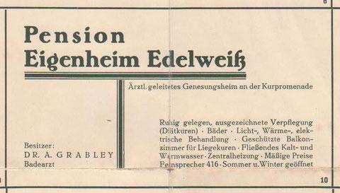 Anzeige 1930er Jahre - Archiv W.Malek