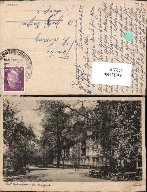 Im Kurgarten Kunstanstalt Stangel & CO GmbH Dresden gel. 06.09.1944
