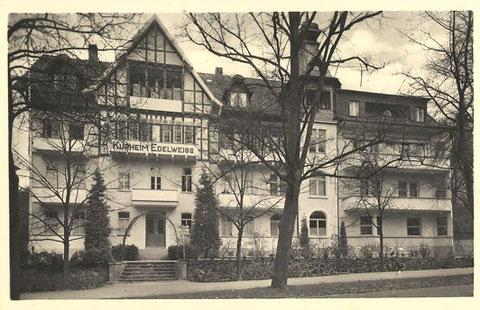 Esplanade 7, Kurheim Edelweiss 1942 - Archiv W.Malek