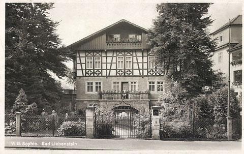 Villa Sophie 1932 - Archiv W.Malek