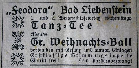 Anzeige im Stammgast 23.12.1933