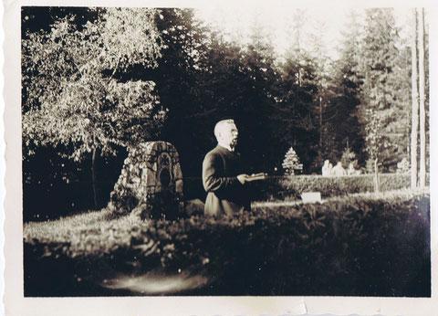 Waldgottesdienst 1933 am Denkmal Georg Reichs - Sammlung Fritz Eberhard Reich
