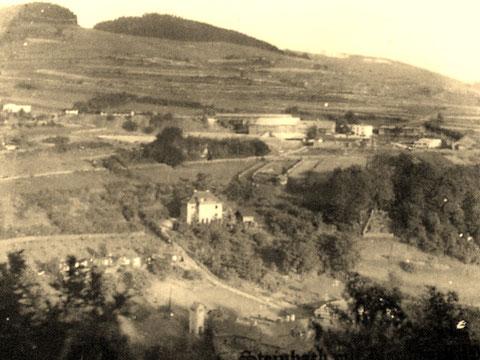 Blick auf das Bergwerksgelände 1952 - Quelle Karin Bodenstein