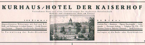 Anzeige Ende der 1930er Jahre - Archiv W.Malek