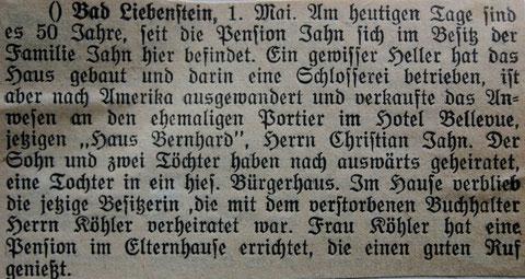 Quelle: Oberlehrer Büttne/Harry Stein - Stammgast 1931