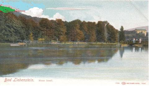rechts über dem Steg Hotel Bellevue - Repro W.Malek
