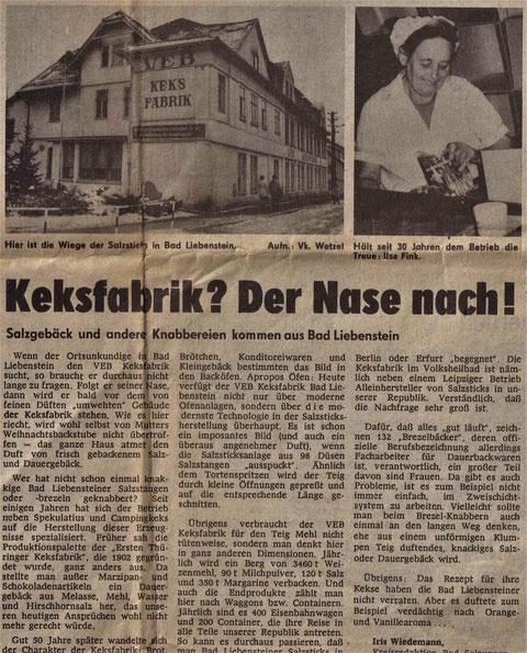 """Quelle: Karin Hartmann - Volker Henning aus """"Freies Wort"""" 25.01.1982"""