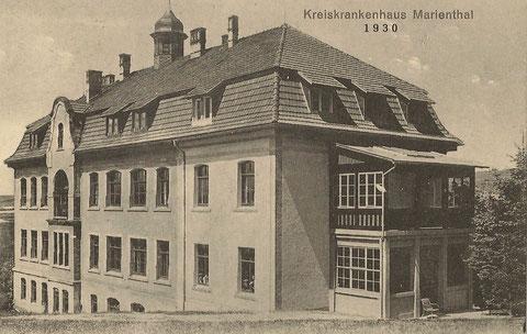 Die Geschichte des Krankenhauses Marienthal wartet auf Bearbeitung !