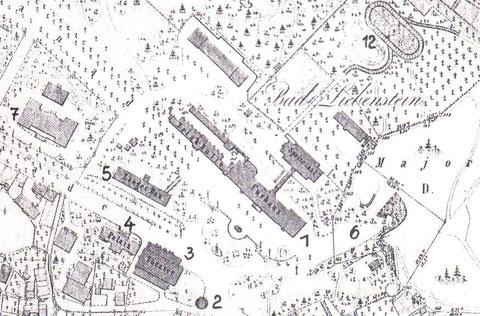 Katasterblatt 1870 graviert - Repro W.Malek