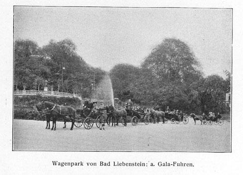 Pferdekutschen vor dem Malakoff mit Greifenbrunnen -Sammlung Volker Henning