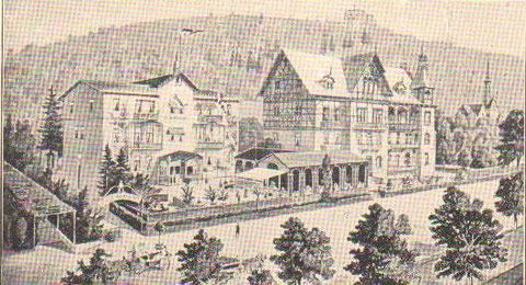 Villa Albrecht links & das spätere Haus Edelweiß rechts um 1900 - Archiv W.Malek
