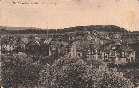 Bad Liebenstein Villenviertel gel. 30.06.1919 Ottmar Ziemer München