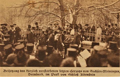 Beisetzung Berhard III Sachsen-Meiningen 1928 - Quelle Rosi Reich