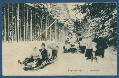 Wintersport in Friedrichroda vom Verlag Friedrich Krautwurst Buchhandlung 1910