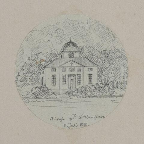 Zeichnung von Rudolf Lutter vom 11.07.1851 - Recherche Volker Henning