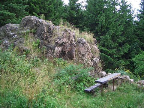 Questenstein 2013- Standort der ehemaligen Hütte - Quelle Günter Reich