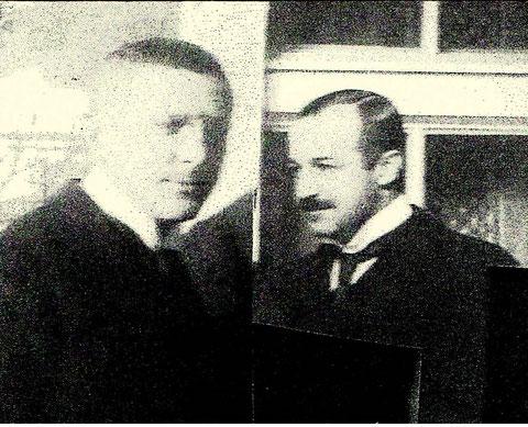 links Dr.Max Seige, rechts Dr. Felix Eichler - Archiv Dr. Christine.Seige
