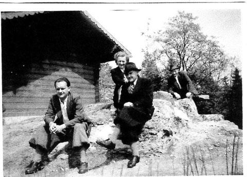 Walter Hermann (links), Walter Börner (Mitte), Käte Börner - Archiv F. E. Reich