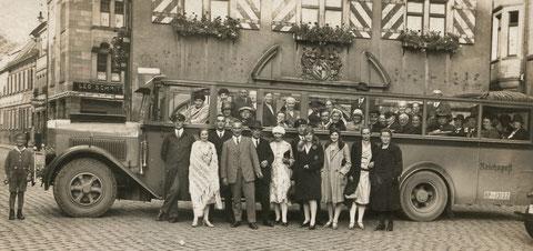 Postausflug nach Bad Kissingen 1930er - Archiv Horst Schneider