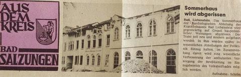 Abriß Haus I (Sommerhaus) ca. 1973 - Recherche Nicolle Römhild